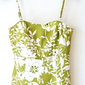 ANN TAYLOR Spring moody floral lime green lined